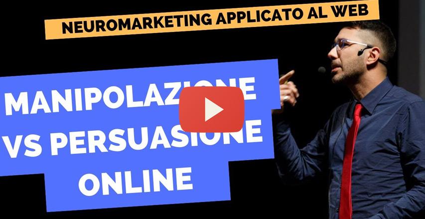 video che spiega differenza tra manipolazione e persuasione online