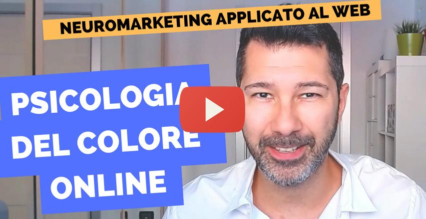 video che spiega la psicologia dei colori online